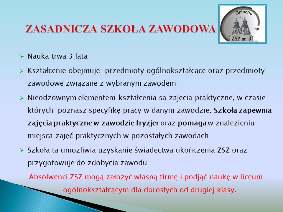 - odnosimy sukcesy w konkursach ogólnopolskich – zajęcie III miejsca w Polsce w zawodzie stolarz 2014….