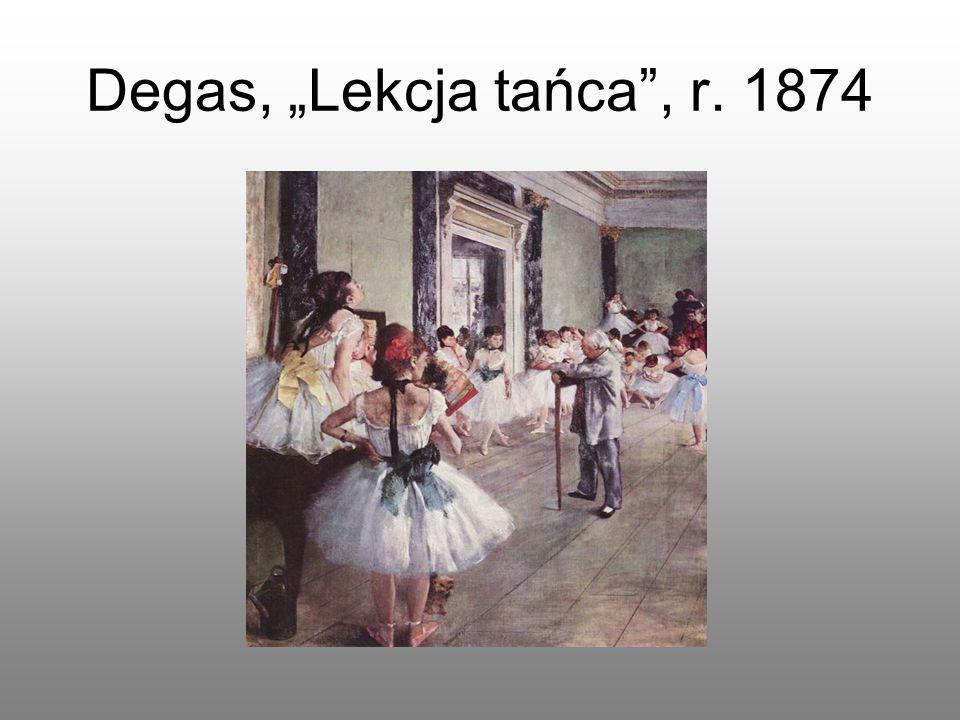 "Degas, ""Lekcja tańca"", r. 1874"