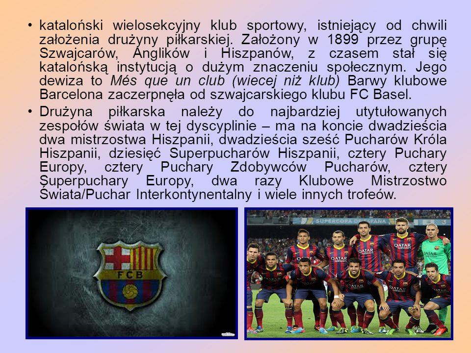 kataloński wielosekcyjny klub sportowy, istniejący od chwili założenia drużyny piłkarskiej.