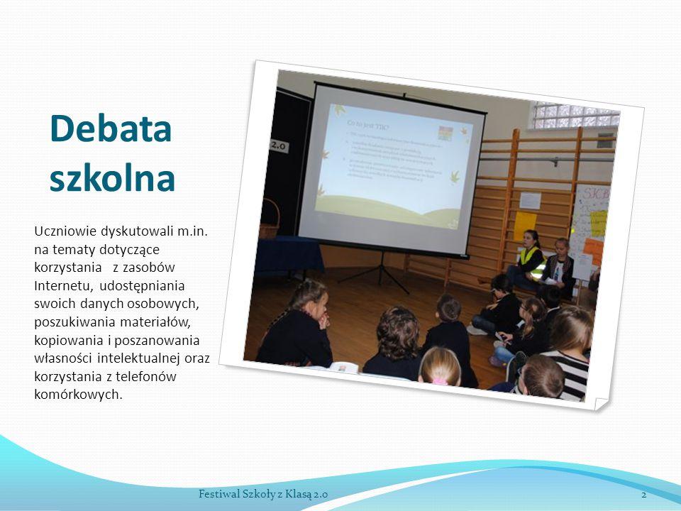 Debata szkolna Uczniowie dyskutowali m.in.
