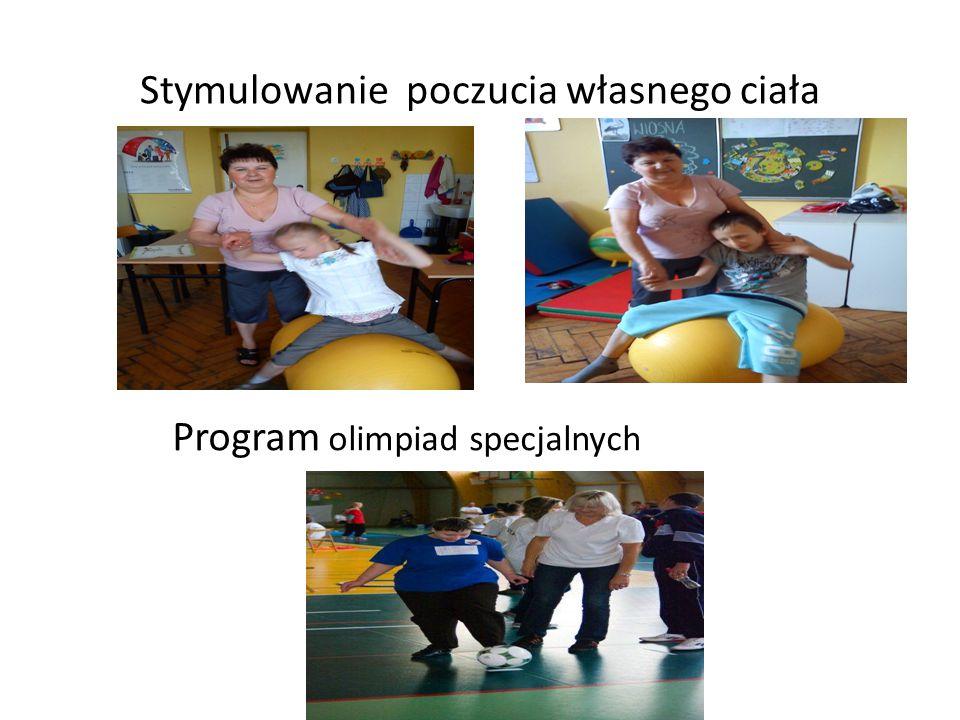 Stymulowanie poczucia własnego ciała Program olimpiad specjalnych