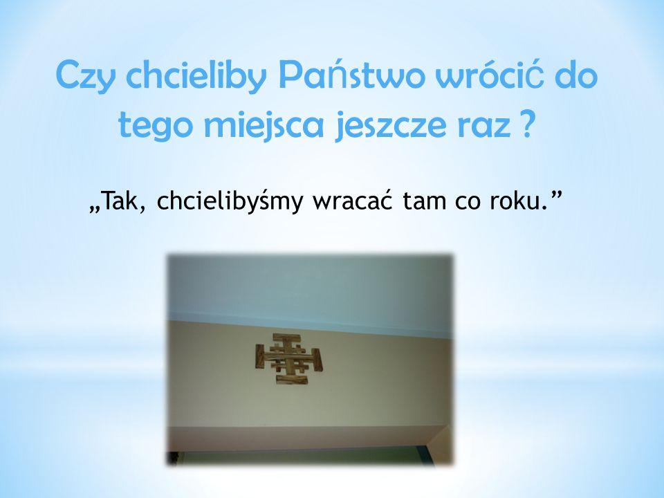"""Czy podró ż do Ziemi Ś wi ę tej była długa.""""Autobusem do Warszawy jechaliśmy ok."""