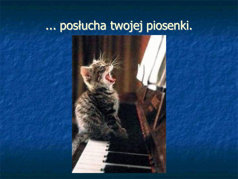 ... posłucha twojej piosenki.