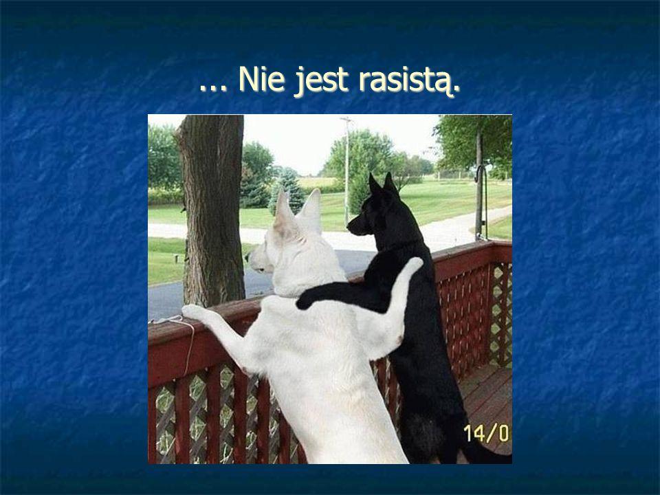 ... Nie jest rasistą.