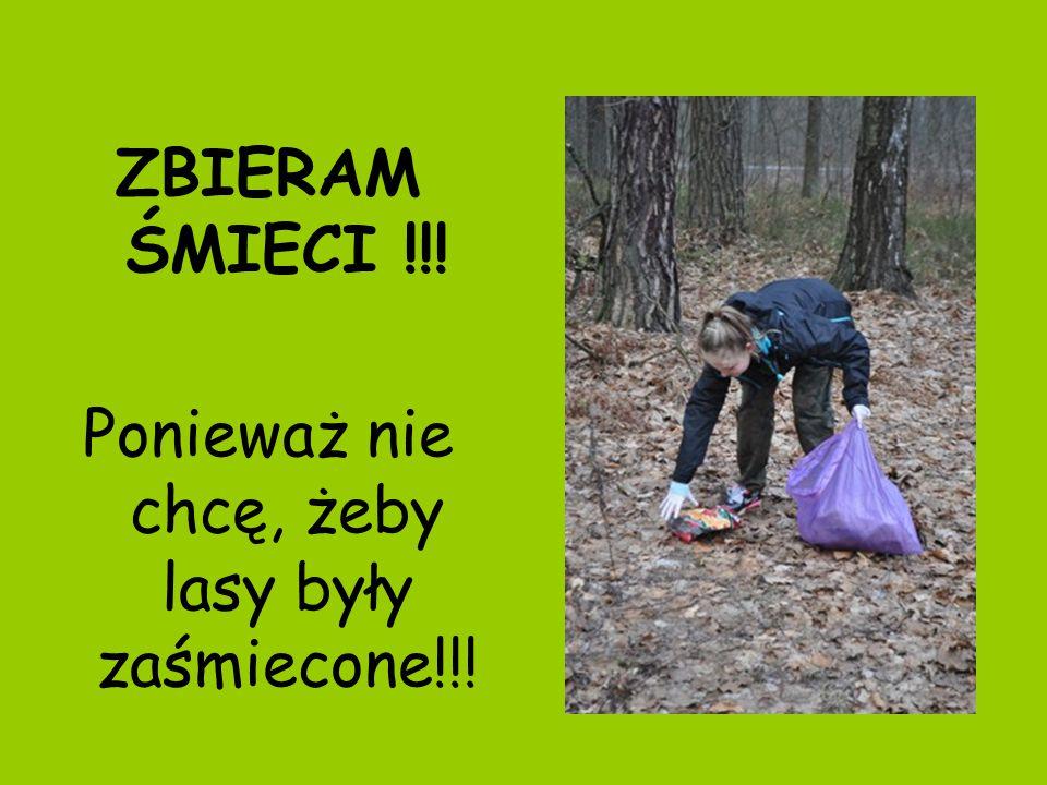 ZBIERAM ŚMIECI !!! Ponieważ nie chcę, żeby lasy były zaśmiecone!!!