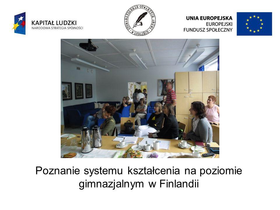 Poznanie systemu kształcenia na poziomie gimnazjalnym w Finlandii