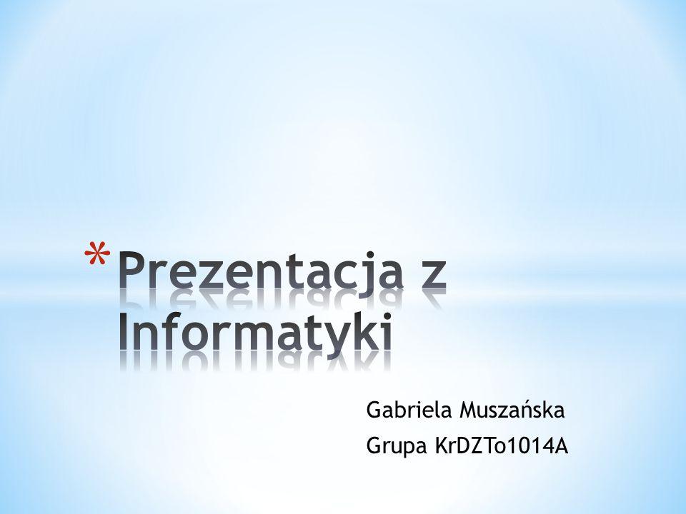 Gabriela Muszańska Grupa KrDZTo1014A