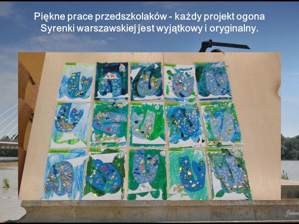 Piękne prace przedszkolaków - każdy projekt ogona Syrenki warszawskiej jest wyjątkowy i oryginalny.