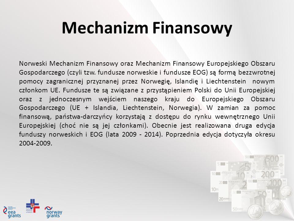 Norweski Mechanizm Finansowy oraz Mechanizm Finansowy Europejskiego Obszaru Gospodarczego (czyli tzw. fundusze norweskie i fundusze EOG) są formą bezz