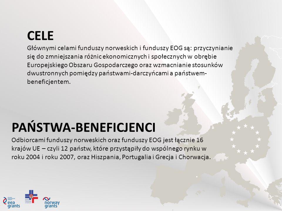 CELE Głównymi celami funduszy norweskich i funduszy EOG są: przyczynianie się do zmniejszania różnic ekonomicznych i społecznych w obrębie Europejskie