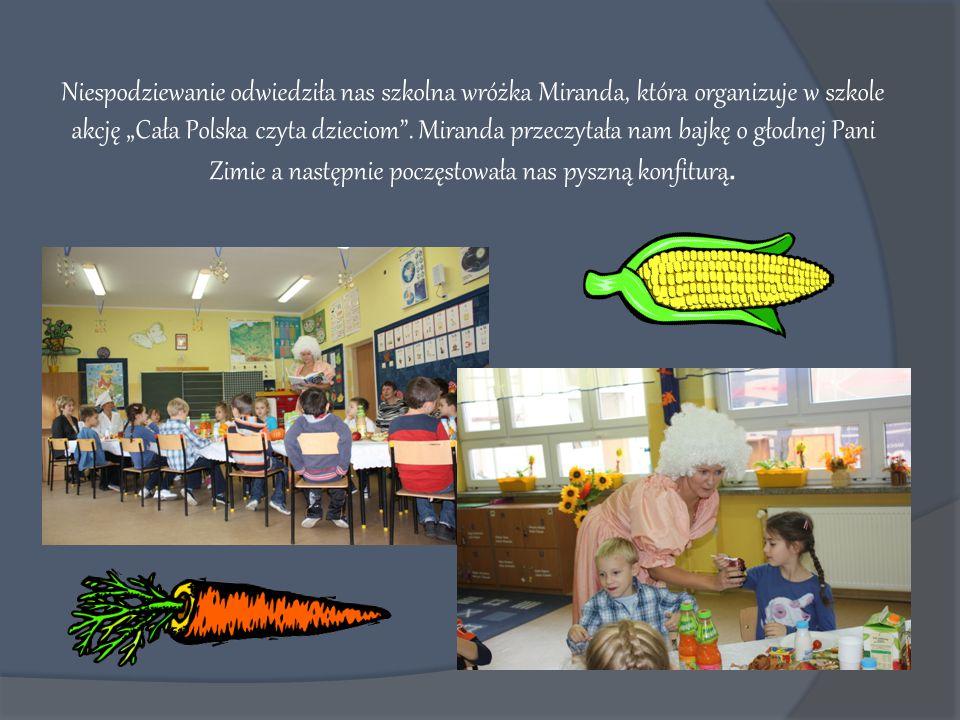 """Niespodziewanie odwiedziła nas szkolna wróżka Miranda, która organizuje w szkole akcję """"Cała Polska czyta dzieciom ."""