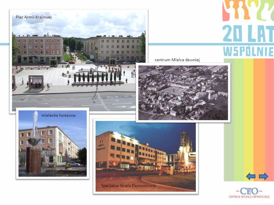 Specjalna Strefa Ekonomiczna Plac Armii Krajowej mielecka fontanna centrum Mielca dawniej