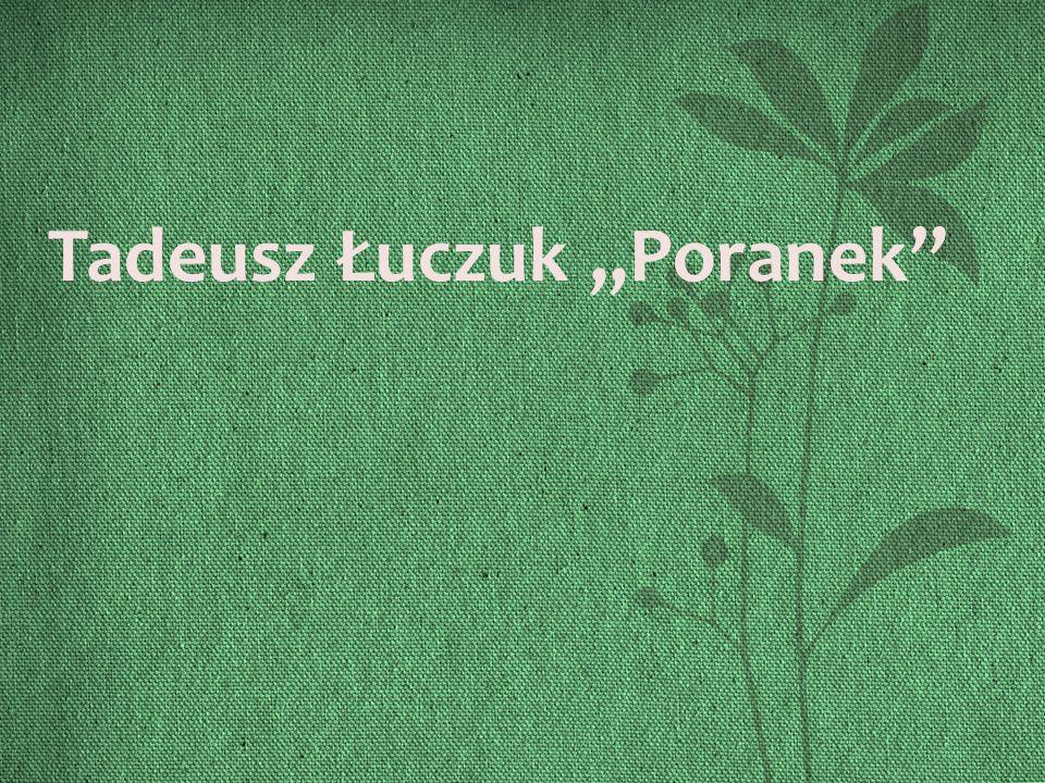 Tadeusz Łuczuk,,Poranek''