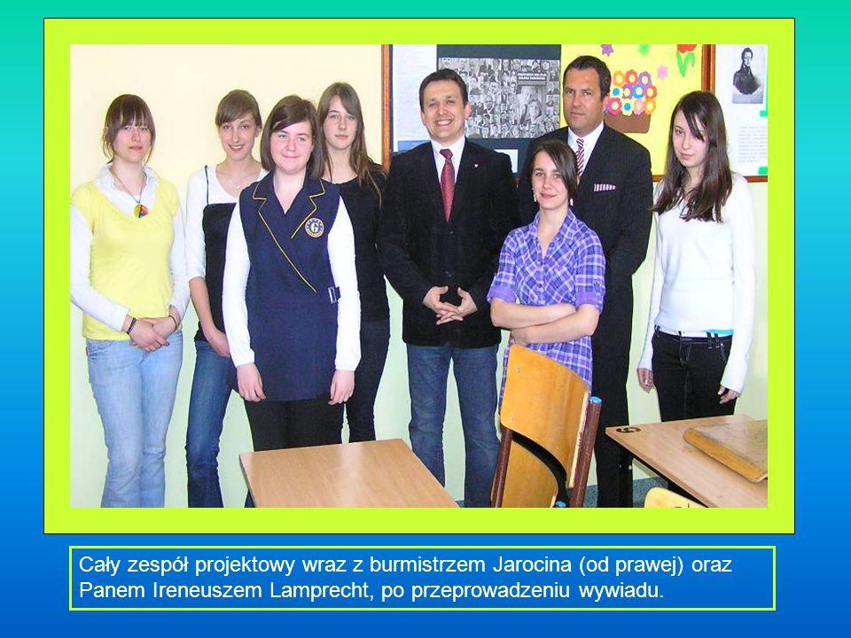 Cały zespół projektowy wraz z burmistrzem Jarocina (od prawej) oraz Panem Ireneuszem Lamprecht, po przeprowadzeniu wywiadu.