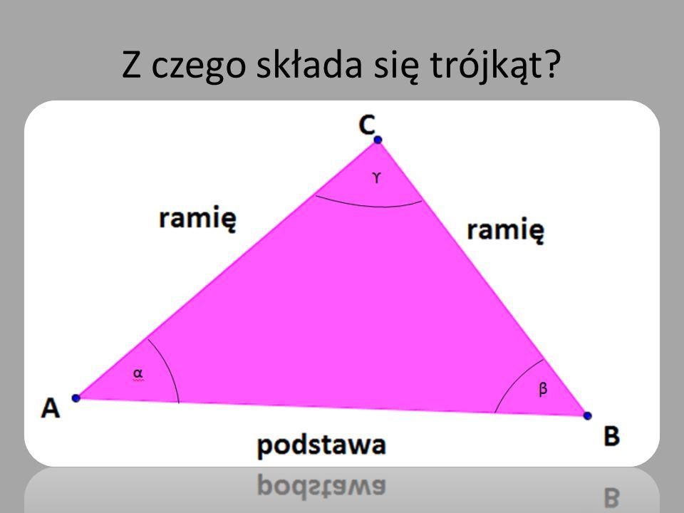 Z czego składa się trójkąt?