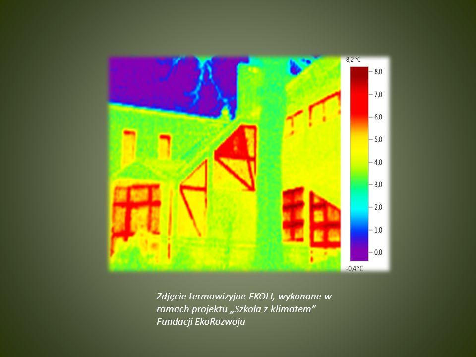 """Zdjęcie termowizyjne EKOLI, wykonane w ramach projektu """"Szkoła z klimatem Fundacji EkoRozwoju"""