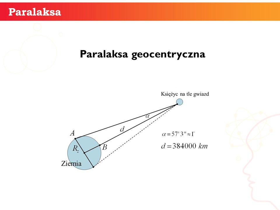 Paralaksa geocentryczna informatyka + 6 Paralaksa