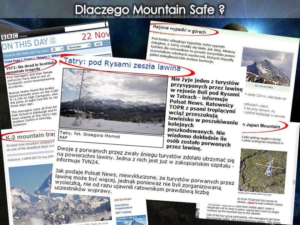 W górach jest niebezpiecznie Utrata przytomności Zakleszczenie w jaskini Zwichnięcie, złamanie kończyny.