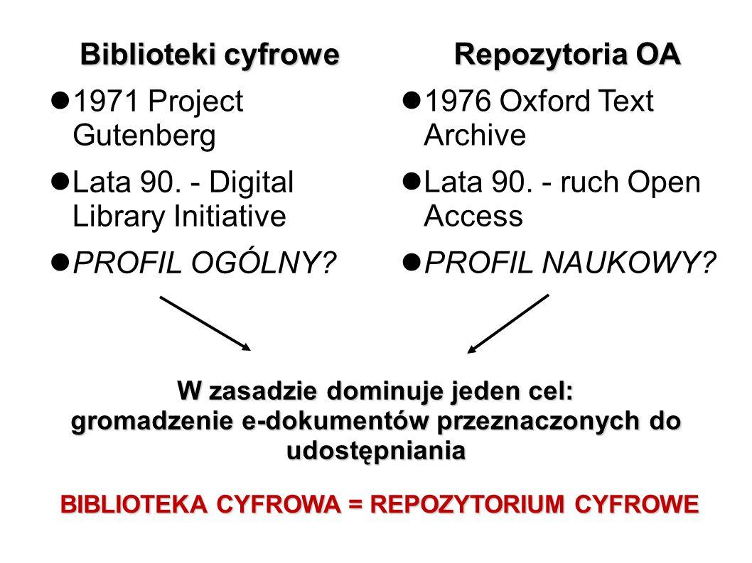 Kierunki badań nad bibliotekami cyfrowymi 30% Techniczne aspekty funkcjonowania bc.