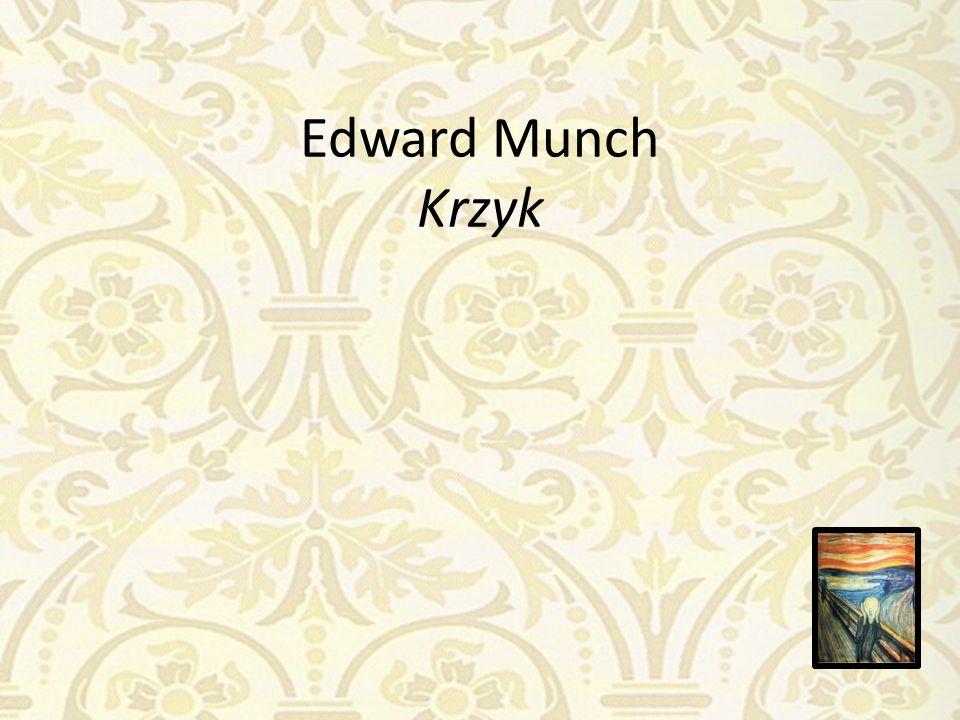 Edward Munch Krzyk