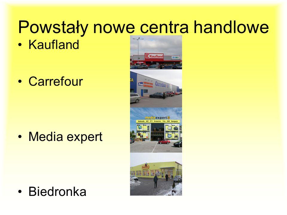 Powstały nowe centra handlowe Kaufland Carrefour Media expert Biedronka