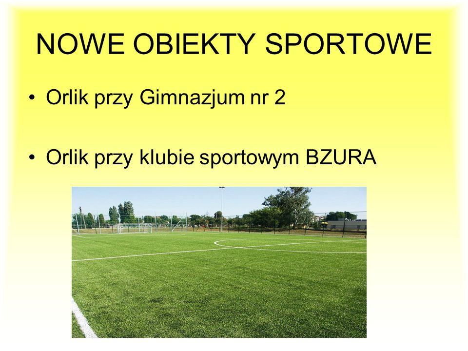 NOWE OBIEKTY SPORTOWE Orlik przy Gimnazjum nr 2 Orlik przy klubie sportowym BZURA