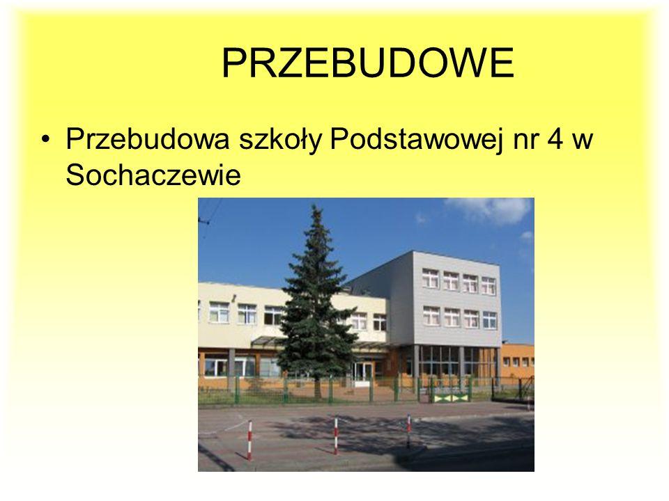 Przebudowa szkoły Podstawowej nr 4 w Sochaczewie PRZEBUDOWE