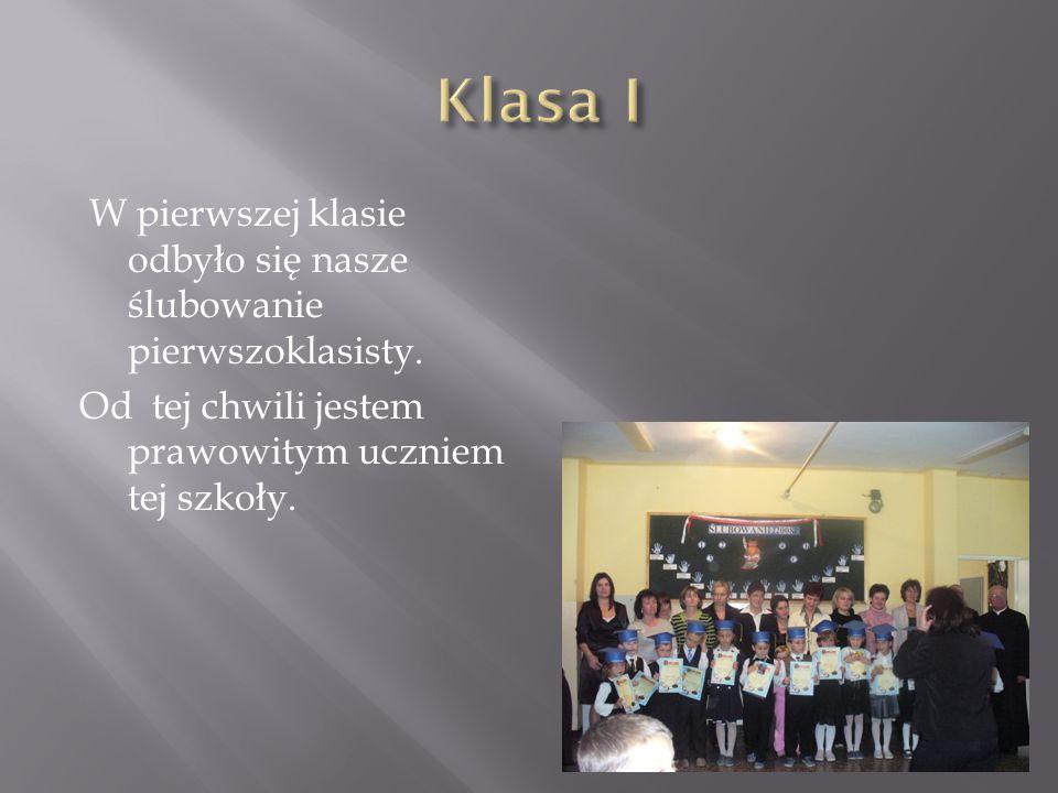 W tej klasie odbyła się moja I Komunia Św. Ten dzień na zawsze utkwił w mojej pamięci.