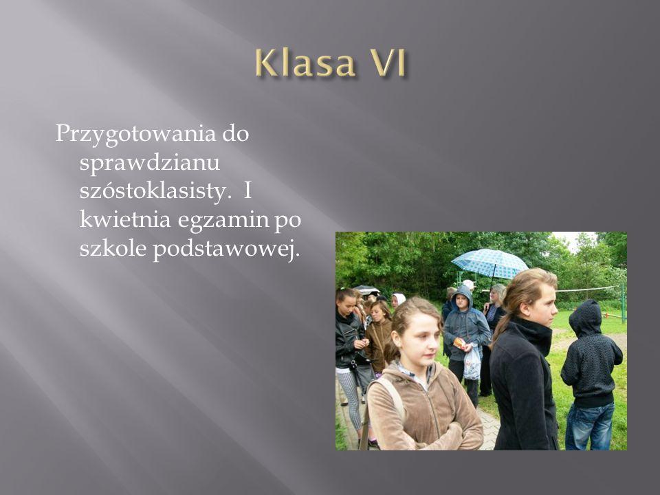 Przygotowania do sprawdzianu szóstoklasisty. I kwietnia egzamin po szkole podstawowej.