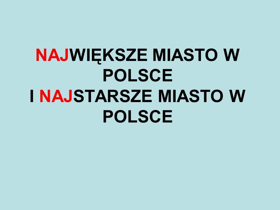 Warszawa jak przystało na stolicę Polski jest największym polskim miastem pod względem liczby ludności i powierzchni.