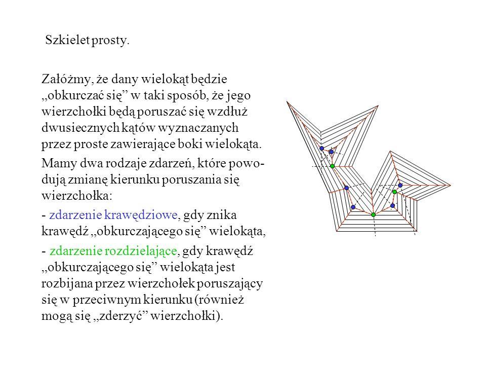 Metoda zamian.Postępujemy podobnie jak w przypadku znajdywania legalnej triangulacji.