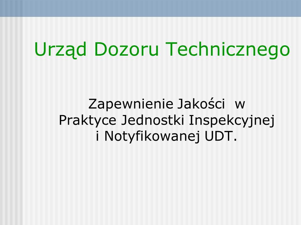 Urząd Dozoru Technicznego Warszawa Szczęśliwicka 34 Urząd Dozoru Technicznego Jednostka Notyfikowana 1433