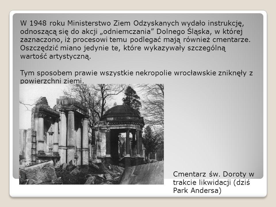 """Losy powojenne W 1948 roku Ministerstwo Ziem Odzyskanych wydało instrukcję, odnoszącą się do akcji """"odniemczania"""" Dolnego Śląska, w której zaznaczono,"""