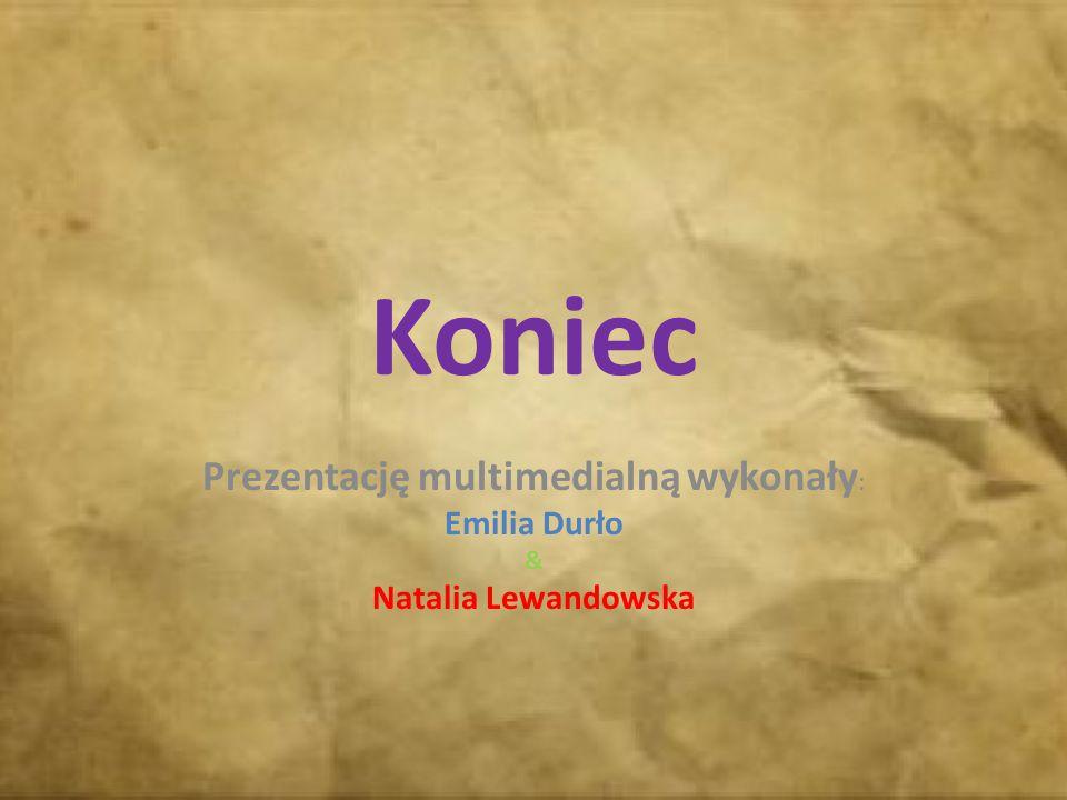 Koniec Prezentację multimedialną wykonały : Emilia Durło & Natalia Lewandowska