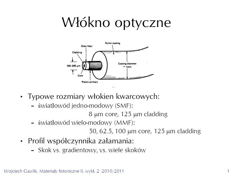 Wojciech Gawlik, Materiały fotoniczne II, wykł. 2 2010/20112