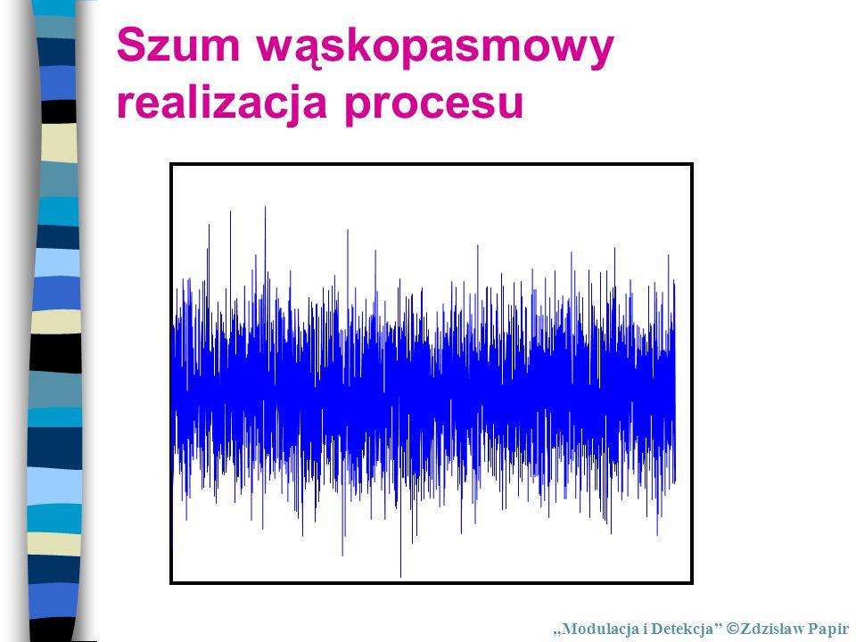 """""""Modulacja i Detekcja""""  Zdzisław Papir Szum wąskopasmowy realizacja procesu"""