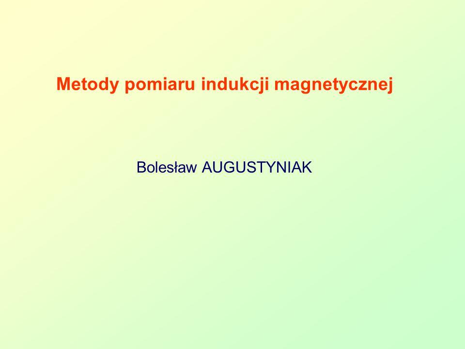 Metody pomiaru indukcji magnetycznej Bolesław AUGUSTYNIAK