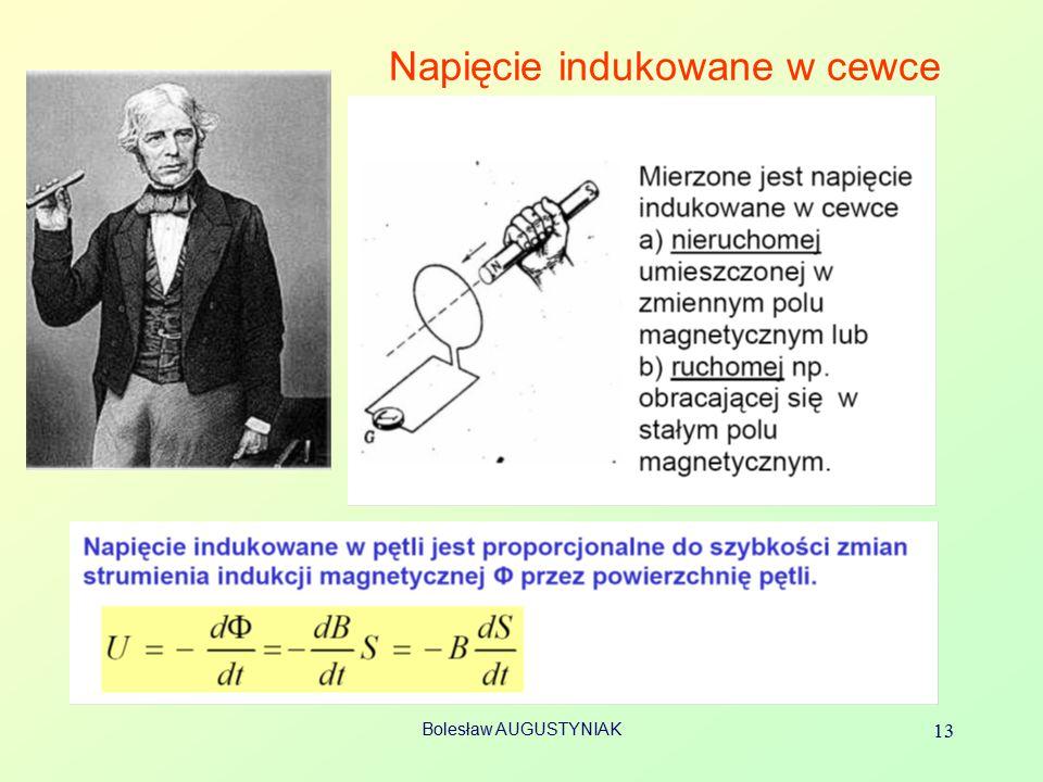 Bolesław AUGUSTYNIAK 13 Napięcie indukowane w cewce