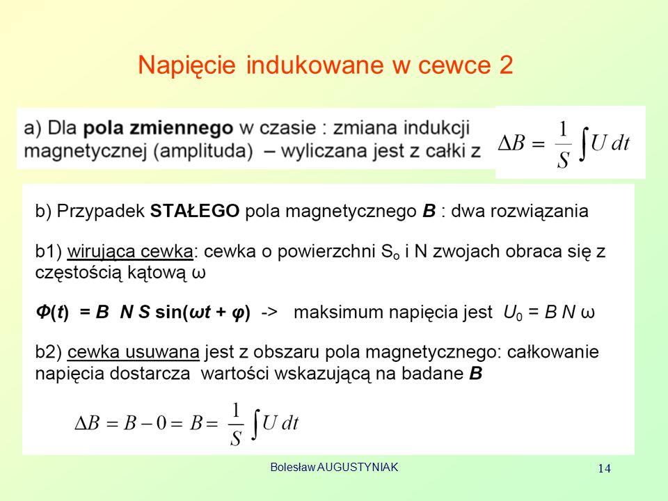 Bolesław AUGUSTYNIAK 14 Napięcie indukowane w cewce 2