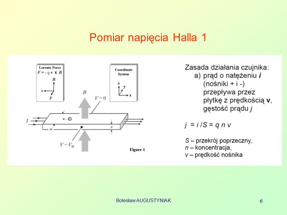 Bolesław AUGUSTYNIAK 6 Pomiar napięcia Halla 1