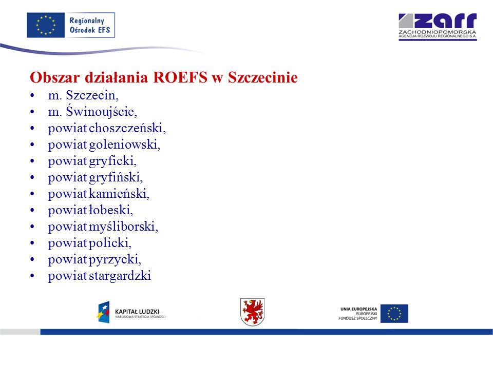 Obszar działania ROEFS w Szczecinie m. Szczecin, m.