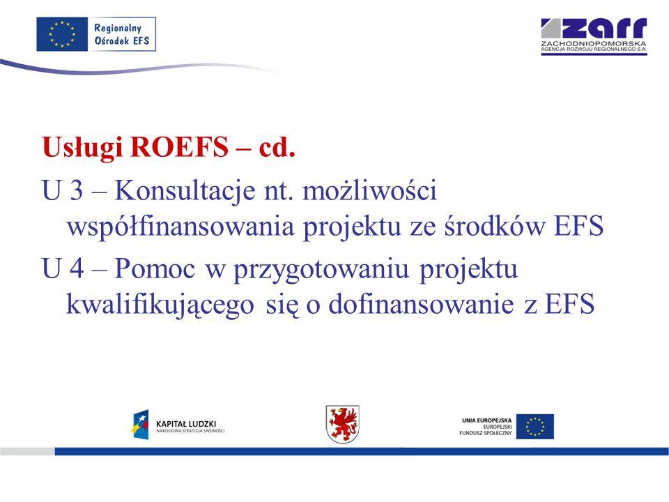 Usługi ROEFS – cd. U 3 – Konsultacje nt.