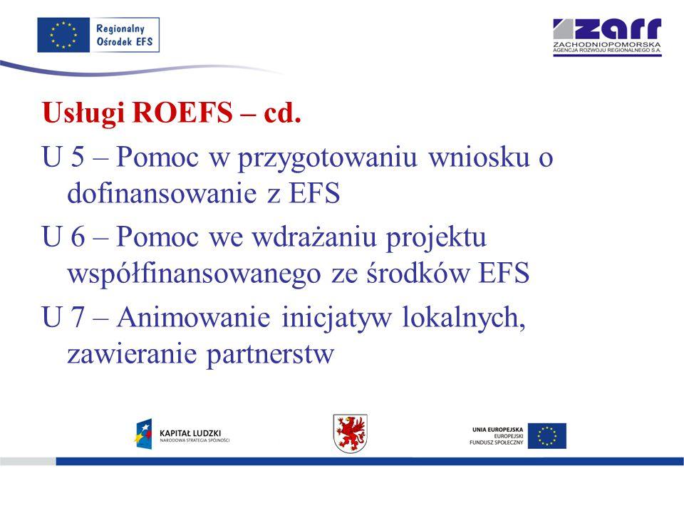Usługi ROEFS – cd.