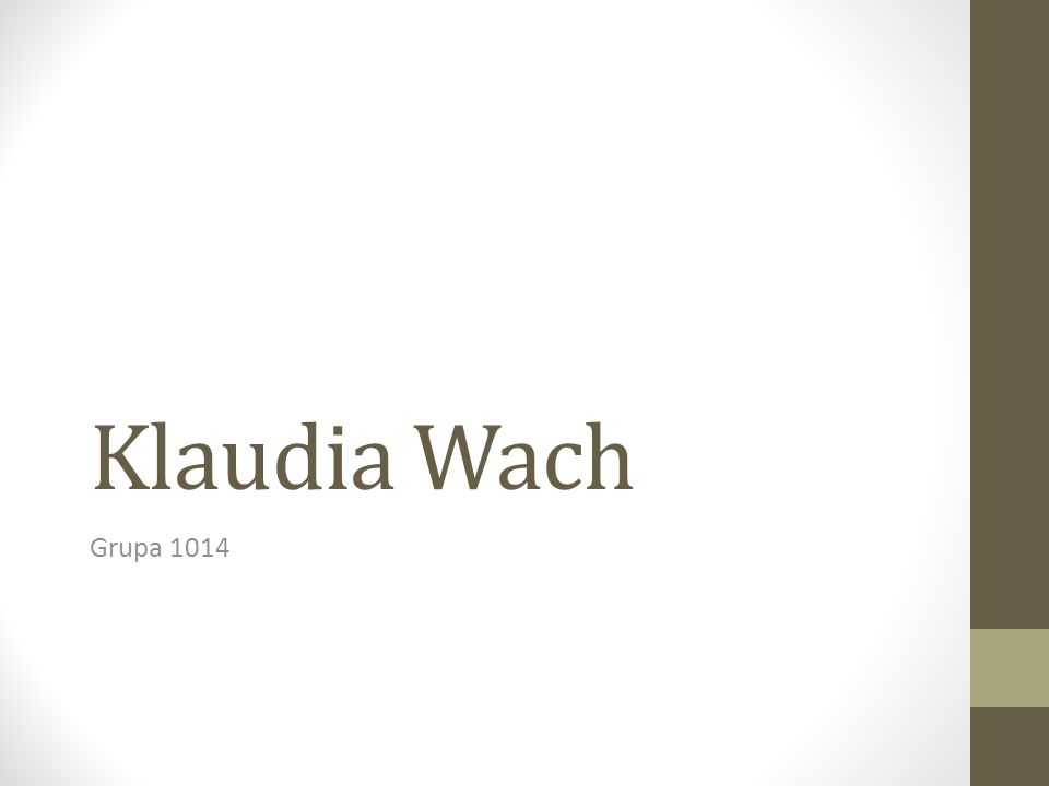 Klaudia Wach Grupa 1014