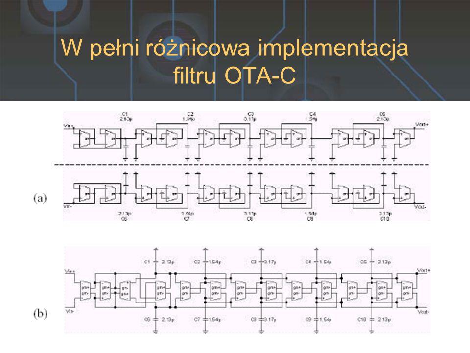 W pełni różnicowa implementacja filtru OTA-C