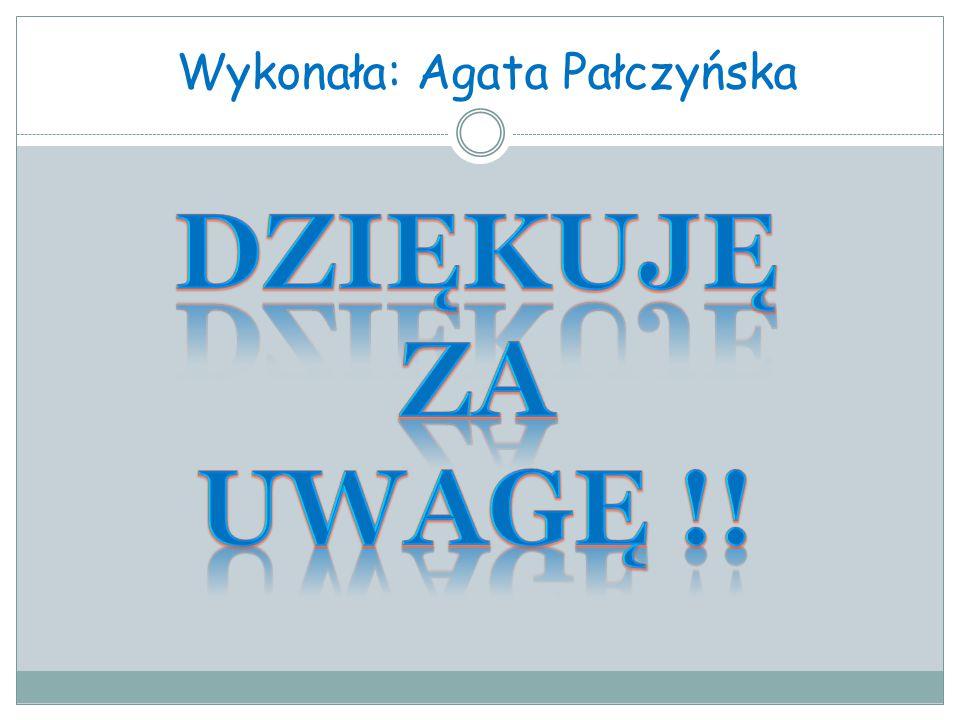 Wykonała: Agata Pałczyńska
