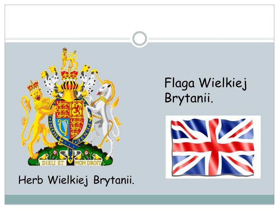 Flaga Wielkiej Brytanii. Herb Wielkiej Brytanii.