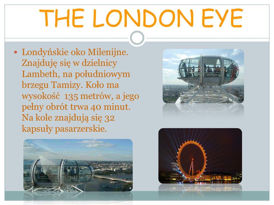 THE LONDON EYE Londyńskie oko Milenijne.