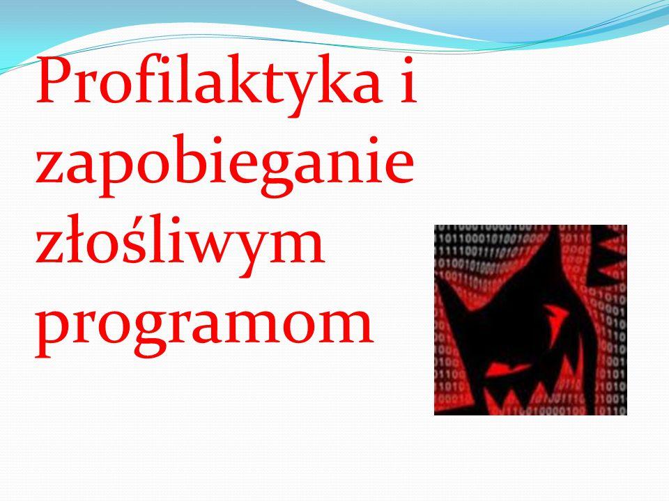 obrona instalacja oprogramowania antywirusowego, włączona zapora sieciowa (firewall) z modułem HIPS (np.