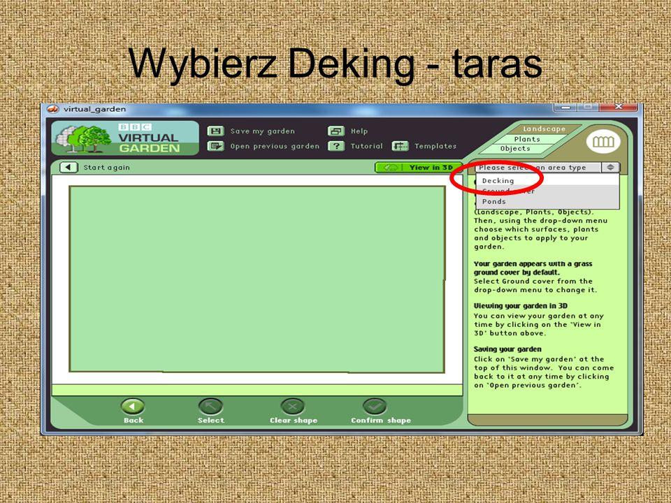 Wybierz Deking - taras